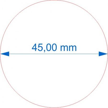Socle rond diamètre 45mm transparent - épaisse 3mm