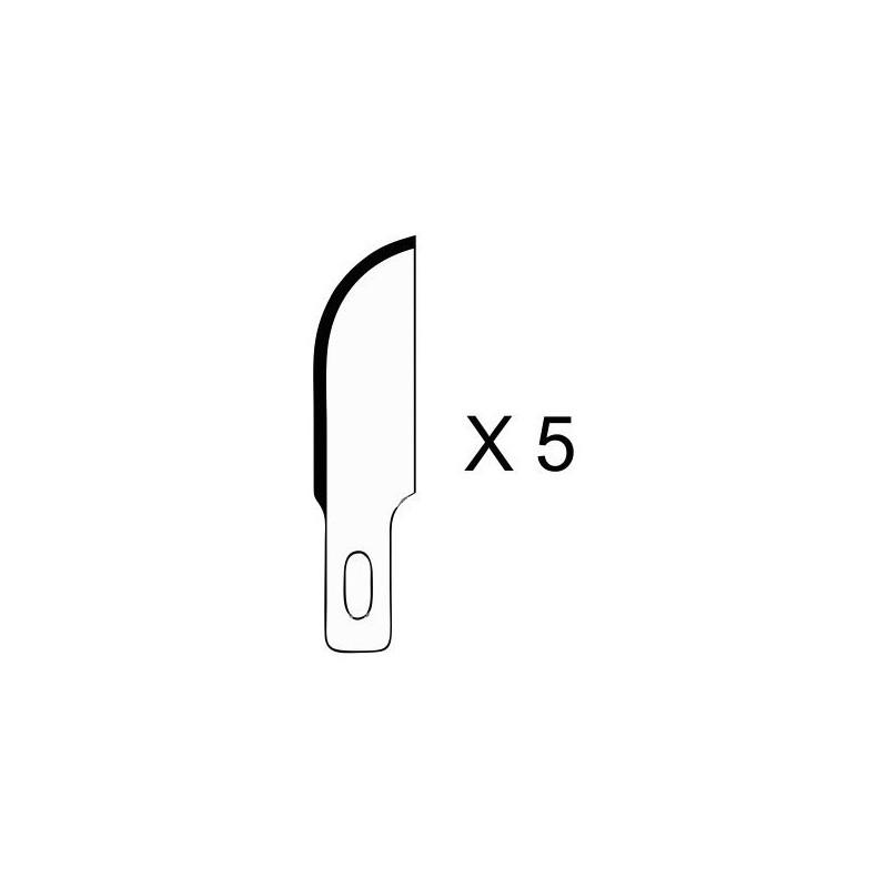 Set de 5 lames courbes pour couteau de modelisme
