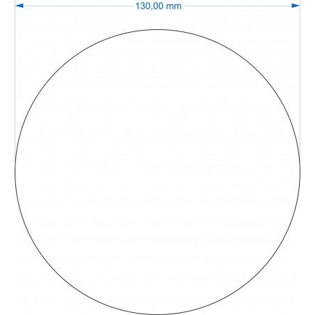 Socle rond diamètre 130mm transparent