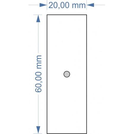 Socle 20x60mm magnétique