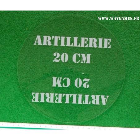 Gabarit d'artillerie 20 cm