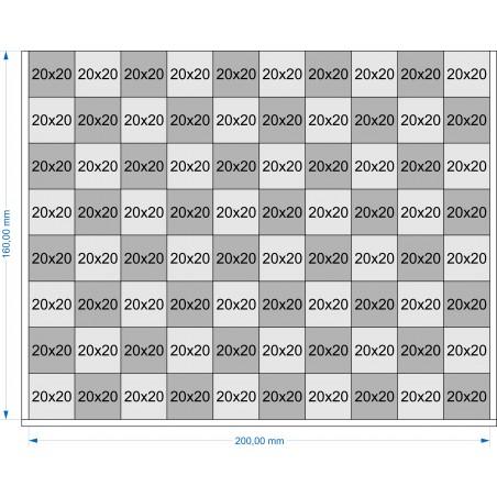 Plateau de mouvement 200x160mm