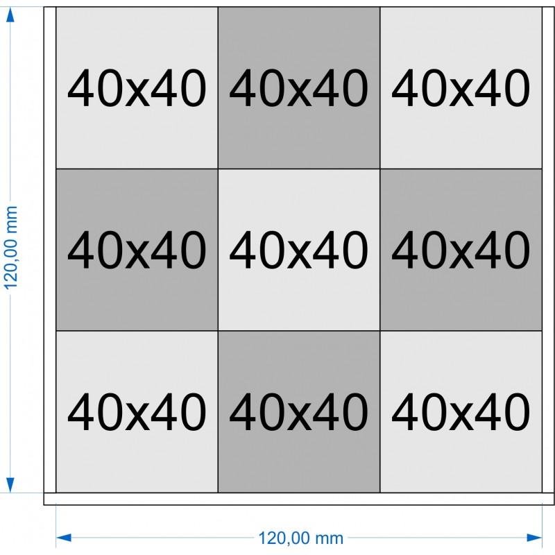 Plateau de mouvement 120x120mm
