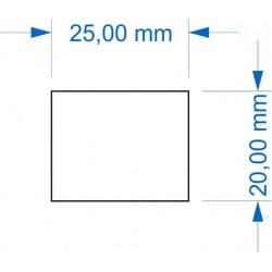 Socle 20x25mm