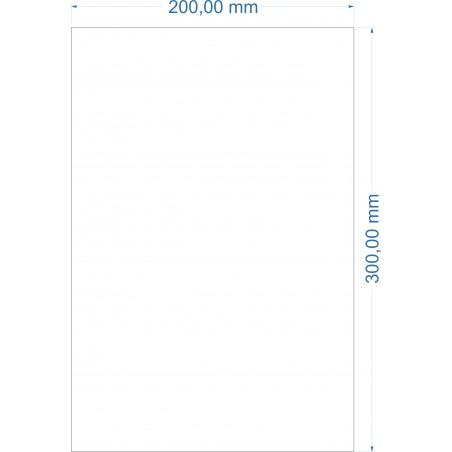 Feuille métallique 200mm x 300mm adhésive et souple
