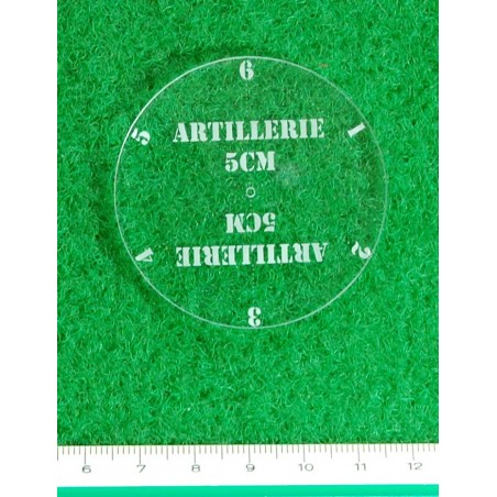 Gabarit d'artillerie 5 cm