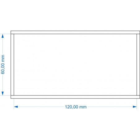 Plateau de mouvement 120x60mm fermé