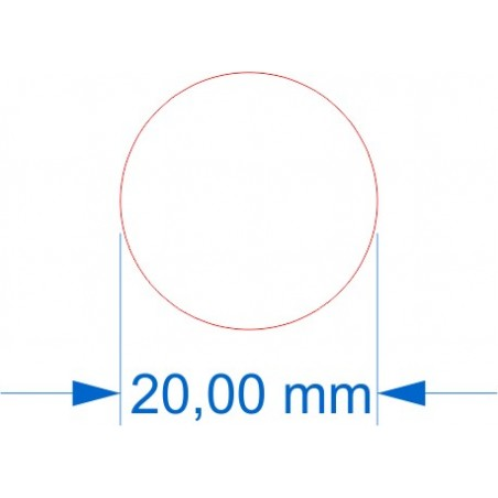 Socle rond diamètre 20mm transparent