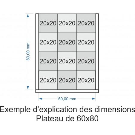 Plateau de mouvement 60x80mm