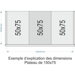 Plateau de mouvement 150x75mm