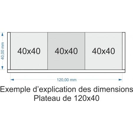 Plateau de mouvement 120x40mm