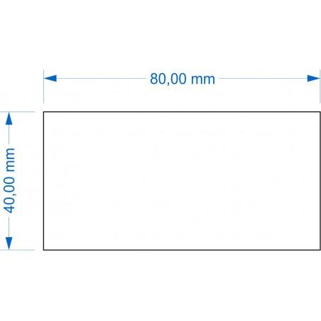 Socle 40x80mm