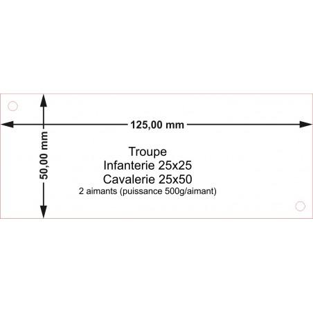 Plateau Troupe Cavalerie 25x50 - 125x50mm Magnétique