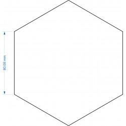 Socle Hexagonal 80mm de côté