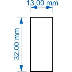 Socle 13x32mm