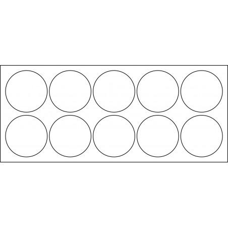 Plateau de mouvement 5x2 Socles Rond diamètre 40mm