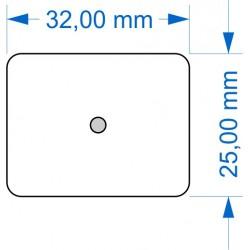 Socle 25x32mm angles arrondis Magnétique