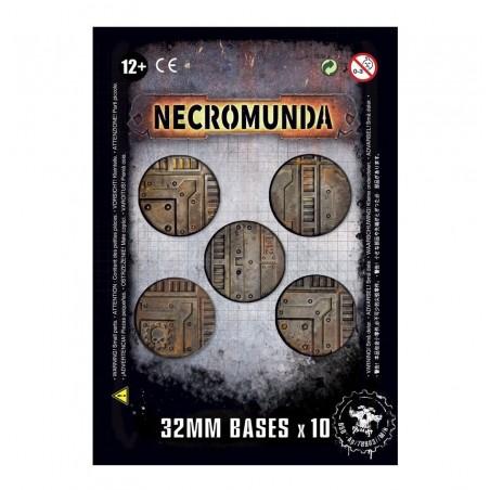 Socles Necromunda de 32mm (X10)