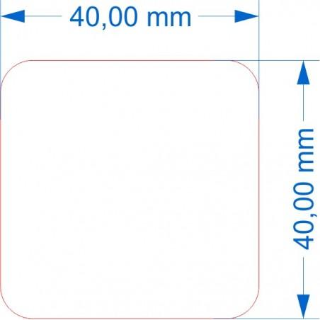 Socle 125x50mm transparent arrondi