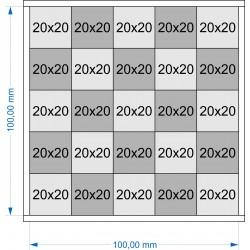 Plateau de mouvement 100x100mm fermé