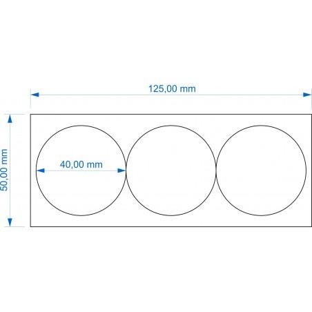 Plateau de mouvement 125x50mm Socles Rond diamètre 40