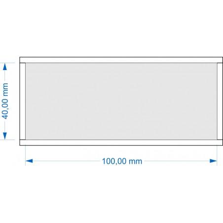 Plateau de mouvement 100x40mm Fermé