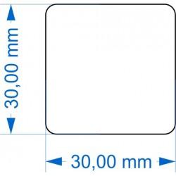 Socle 30x30mm transparent arrondi