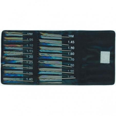 Set de 15 forets de modélisme 1,05 à 2mm