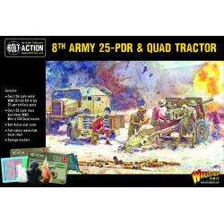 8th Army 25 pounder Light Artillery, Quad and Limber