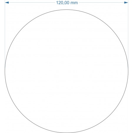 Aimant rond diamètre 120mm adhésif