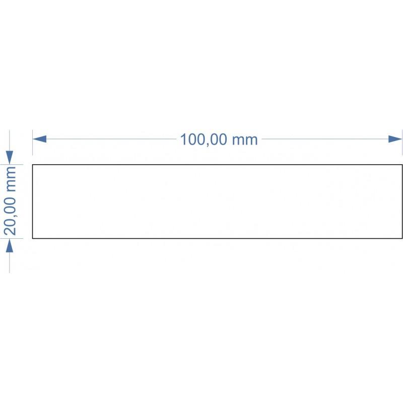 Socle 20x100mm