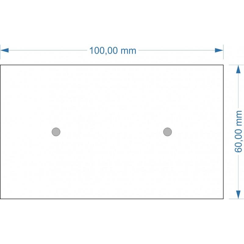 Socle 60x100mm magnétique