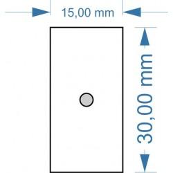 Socle 30x15mm magnétique