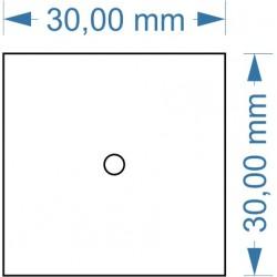 Socle 30x30mm magnétique