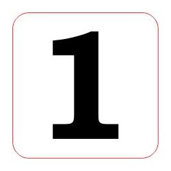 "Marqueur perte - ""1"""