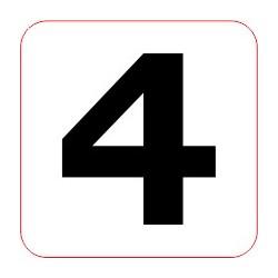 "Marqueur perte - ""4"""