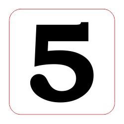 "Marqueur perte - ""5"""
