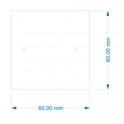 Socle 60x60 magnétique