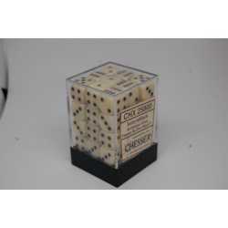 Opaque 12mm d6 Ivory/black...