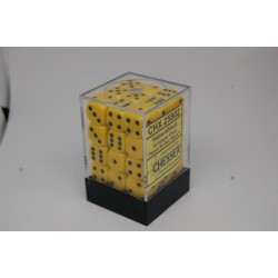Opaque 12mm d6 Yellow/black...