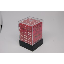 Opaque 12mm d6 Red/white...