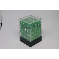 Opaque 12mm d6 Green/white...