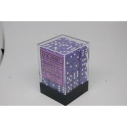 Opaque 12mm d6 Purple/white...
