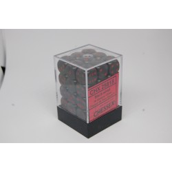 Opaque 12mm d6 Black/red...