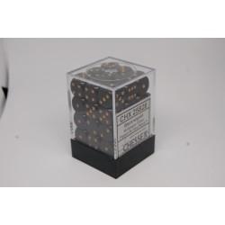 Opaque 12mm d6 Black/gold...