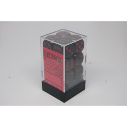 Opaque 16mm d6 Black/red...