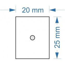 Socle 20x25mm magnétique