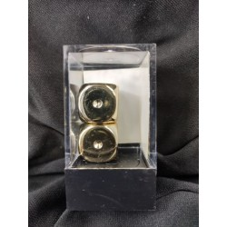 Gold Metallic 16mm d6 Pair...