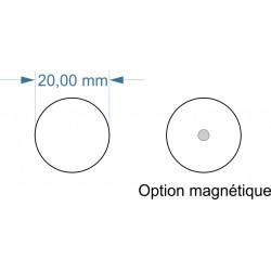 Socle rond diamètre 20mm