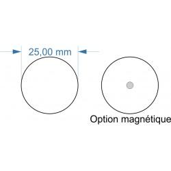 Socle rond diamètre 25mm